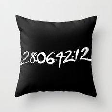 28 days 6 hours 42 minutes 12 seconds. Throw Pillow