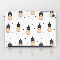 Golden Pineapple Pattern iPad Case