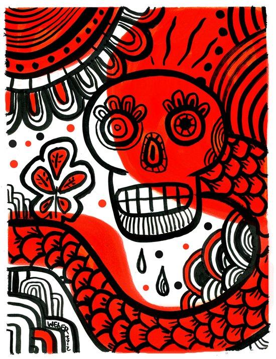 Voodoo Bleassing Snake Canvas Print
