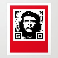 QR- Che Art Print
