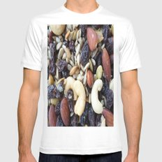 NUTS White Mens Fitted Tee SMALL