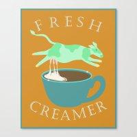 Fresh Creamer Canvas Print