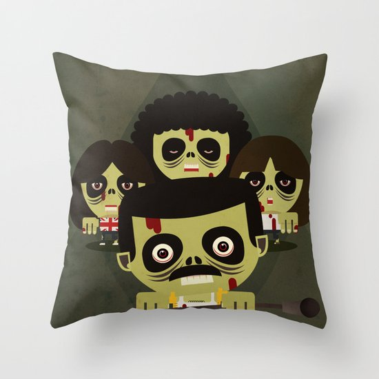 queen zombies Throw Pillow
