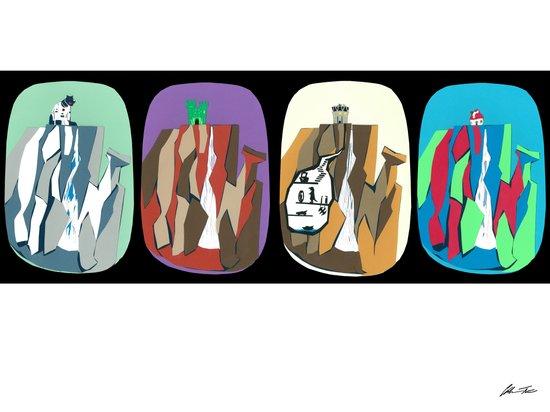 Grayskull, smurf, Thunder and Vigilante Falls Canvas Print