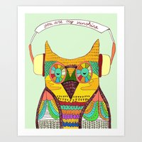 The Owl rustic song Art Print