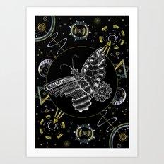 Space Butterfly Art Print