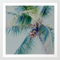 Palm Whispers Pastels Art Print