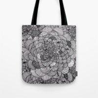 Ink flowers Tote Bag
