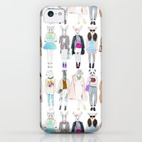 iPhone 5c Cases featuring Trendy Mob by Sara Eshak