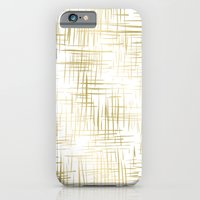 iPhone & iPod Case featuring Crosshatch Gold by Caitlin Workman