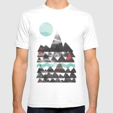 Ascend... SMALL White Mens Fitted Tee
