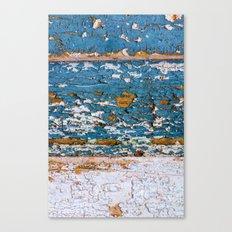 Worn Blue Wood Canvas Print