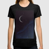 Waxing Cr3sc3nt Glytch Womens Fitted Tee Tri-Black SMALL