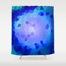 Aqua Stained Shower Curtain