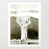 Cubed tree Art Print