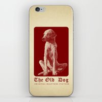 The Old Dog Original Halftone Picture iPhone & iPod Skin