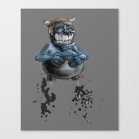 Possibly A Tricky Warrio… Canvas Print