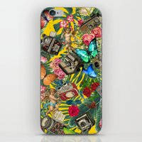 tropical in yellow  iPhone & iPod Skin