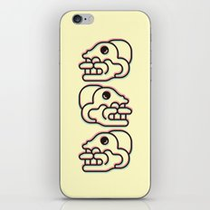 Monkey Skull - Aztec Glyph iPhone & iPod Skin