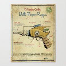 Retro Futuristic, Steampunk Raygun Canvas Print