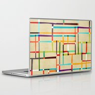 The Map (after Mondrian) Laptop & iPad Skin