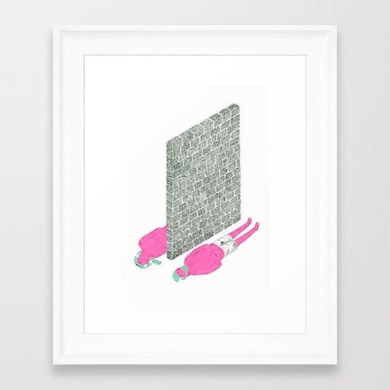 """best friends become strangers"" Framed Art Print"
