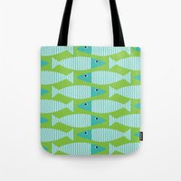 Wavy Bass - Lime Tote Bag