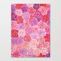 Watercolour Roses Canvas Print