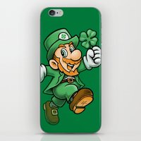 Lucky Mario iPhone & iPod Skin