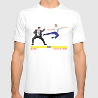Boss Fight Mens Fitted Tee White SMALL
