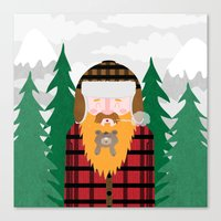 Bear Beard Canvas Print