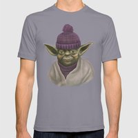 Christmas Yoda (fiolet) Mens Fitted Tee Slate SMALL