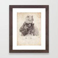 John T. Rex Framed Art Print