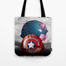 Berto: The Mental-issue pig as Captain America Tote Bag