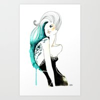 Mina tatto flower Art Print