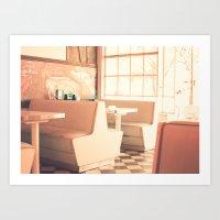 Pink Diner (retro cafe) Art Print