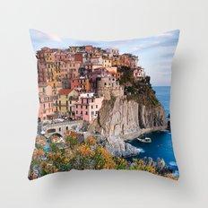 Italy Village Throw Pillow