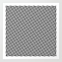 WHITE DOT Art Print