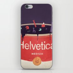 Helveti-soup iPhone & iPod Skin