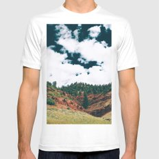 Colorado Valley White Mens Fitted Tee SMALL