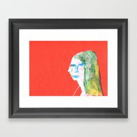 Helga In Profile In Full… Framed Art Print