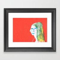 Helga In Profile In Full… Framed Art Print
