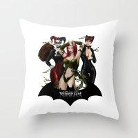 The Gotham Sirens Throw Pillow
