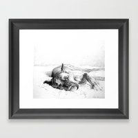 Lazy Mastiff Framed Art Print