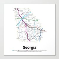 Highways of the USA – Georgia Canvas Print
