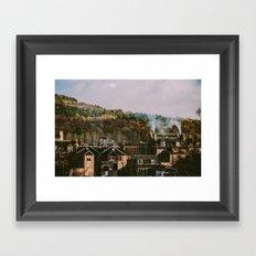 Scottish Rooftops Framed Art Print