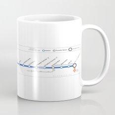 Twin Cities METRO Blue Line Map Mug