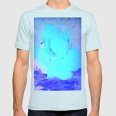 Neon Winter Rose, Abstra… Mens Fitted Tee Light Blue SMALL