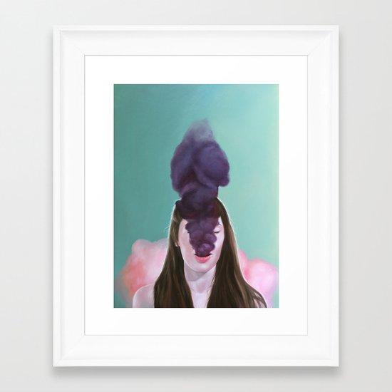 dark secrets Framed Art Print