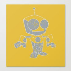 Robot Distressed Canvas Print